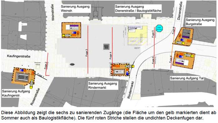 Fugensanierung Am U Bahnhof Marienplatz